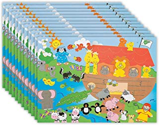 Kicko Make an Ark Stickers - Set of 12 Ship Stickers Scene for Birthday Treat, Goody Bags, School Activity, Group Projects, Room Decor, Arts and Crafts