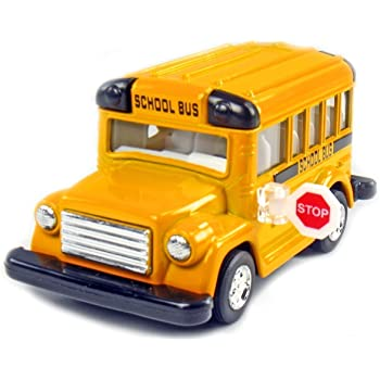 US Toy Die Cast Metal Toy School Bus 5 5 Everready First Aid USTMX254