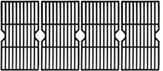 """Hongso 16 7/8"""" Porcelain Enamel Cast Iron Cooking Grates Grill Grids Replacement for Gas Grill Charbroil 463230510, 463230511, 463230512, 463230513, 463230514, 463230710, 463234511, Kenmore, PCH764"""