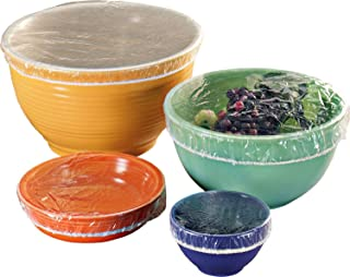 Garden-Outdoor Set of 50 Fitted Bowl Covers, translucent, talla unica Se ajusta a todos