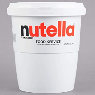 Nutella 6.6 lbs Tub w/ Handle Bulk Size for High Volume Users, Convenient Wide-Mouth Container (6.6 lb)