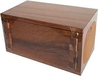 Secret Lock Box Wood Brain Teaser Puzzle - Unique Design - Put a Gift Inside