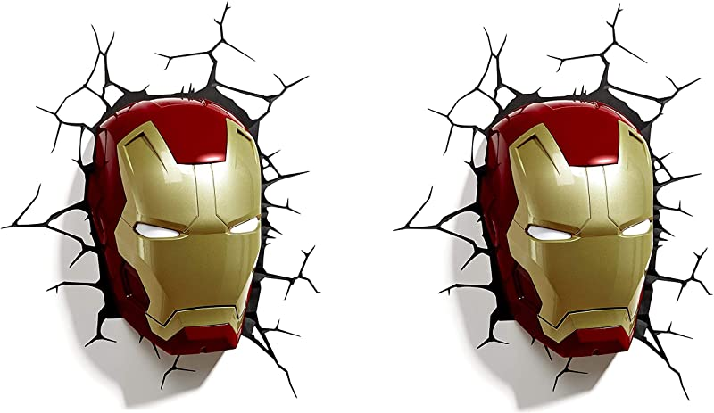 3DLightFX Marvel Avengers Iron Man Mask 3D Deco Light Tw K