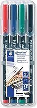 Staedtler 314 WP4 Negro, Azul, Verde, Rojo 1pieza(s) - Marcador permanente (Negro, Azul, Verde, Rojo, Transparente, Polipropileno, 2,5 mm, 1 pieza(s))