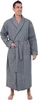 Mens Cotton Robe, Lightweight Woven Bathrobe