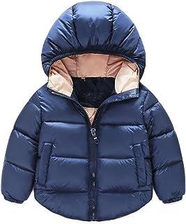 TJTJXRXR Infant and Toddler Baby Boys Girls Outerwear Hooded Puffer Coats Winter Jacket Outwear