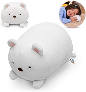 HAKOL Plush Polar Bear Squishy Stuffed Toy 6'' | Soft, Smooth, Cuddly, Washable, Lightweight, Portable | for Pretend Play, Interactive Games, Role & Imaginative Playing, Educational Fun & Learning