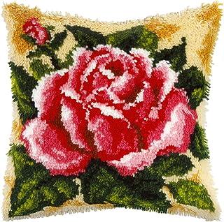 Orchidea kit de Tapisserie au Crochet: Coussin: Rose, Multi, 40cm x 40cm