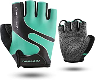 Tanluhu Cycling Gloves Bike Gloves Half Finger Bicycle Gloves - Anti-Slip Shock-Absorbing Padded Breathable Mountain Road ...