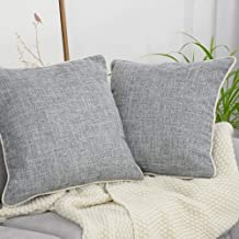 AENEY Decorative Throw Pillow Covers 18x18 for Sofa Bed Couch Grey Throw Pillows Cushion Cover Set of 2