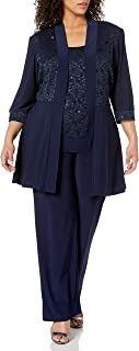 Women's Plus Size Lace Pant Set