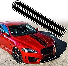 "Leasinder 50.8""x 9.5"" Car Hood Stripe Sticker Auto Racing Stripes Body Side Decal Hood Bumper Stripe Decal Vinyl Stripe St..."