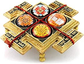 Sampoorna Mahalaxmi Yantra Chowki in Brass / Goddess Laxmi Yantra Chowki for Wealth & Prosperity