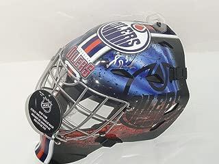 Grant Fuhr Signed Edmonton Oilers Full-size Goalie Mask Helmet Proof - Autographed NHL Helmets and Masks