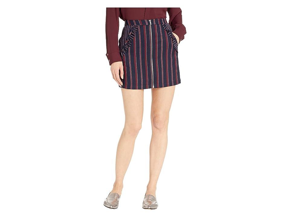 BCBGeneration Ruffle Pocket Skirt (Navy/Multi) Women