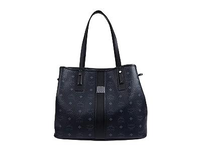 MCM Shopper Project Visetos Shopper Medium (Black) Handbags