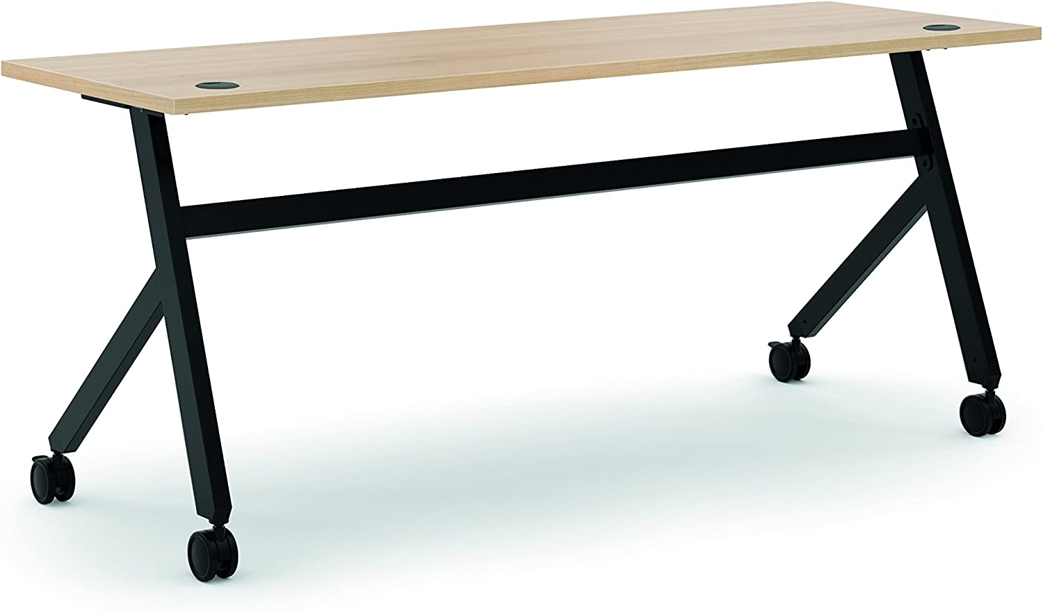 BSXBMPT7224XW Basyx by HON Wheat Laminate Multipurpose Table - 29.5  Table Top Width x 72  Table Top Depth x 1  Table Top Thickness - 24  Height - Steel