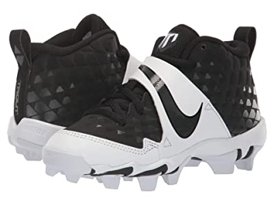 Nike Kids Force Trout 6 Keystone (Toddler/Little Kid/Big Kid) (Black/Anthracite/White) Kids Shoes