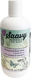 Saavy Naturals Baby Shampoo & Wash | Organic Hair & Skin Care for Infant Bath Time with Calendula & Vitamin E | Baby Showe...