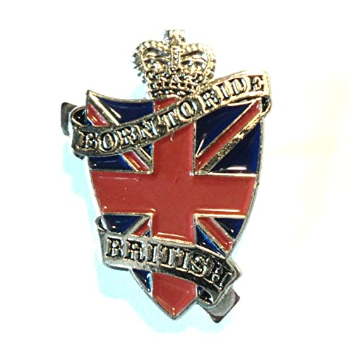 Born to Ride British Motorcycle Enamel Pin Badge Transportation