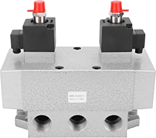 Solenoid Valve, 0.15‑0.8Mpa Aluminium Alloy G1in Double Coil Dual Coil Solenoid Valve for Industry(DC12V)