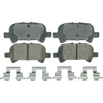Front Wagner ThermoQuiet QC908 Ceramic Disc Pad Set With Installation Hardware