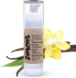 Better'n Ur Skin MEDIUM TAN Organic Liquid Foundation (Warm)   Healthy, Buildable Coverage   All Natural   Vegan   Cruelty...