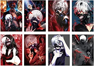 Tokyo Ghoul Posters Japanese Anime Poster for Room Wall Decor, 8 PCS in a Pack, 11.5in x16.5in