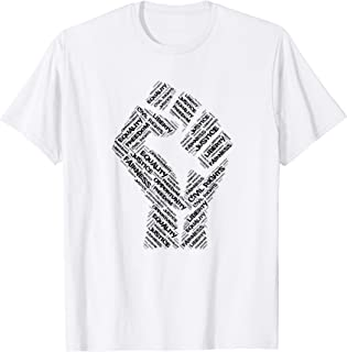 Civil Rights Black Power Fist March For Justice T Shirt