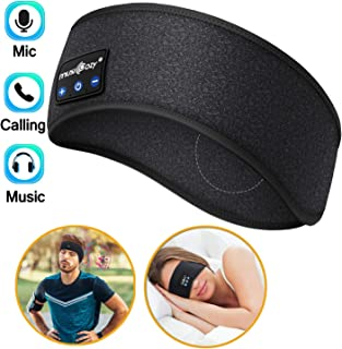 Sleep Headphones Bluetooth, Washable Sleeping Headphones Wireless Headband with Built-in HD Stereo Speakers Perfect for Sports,Workout, Running, Yoga,Insomnia