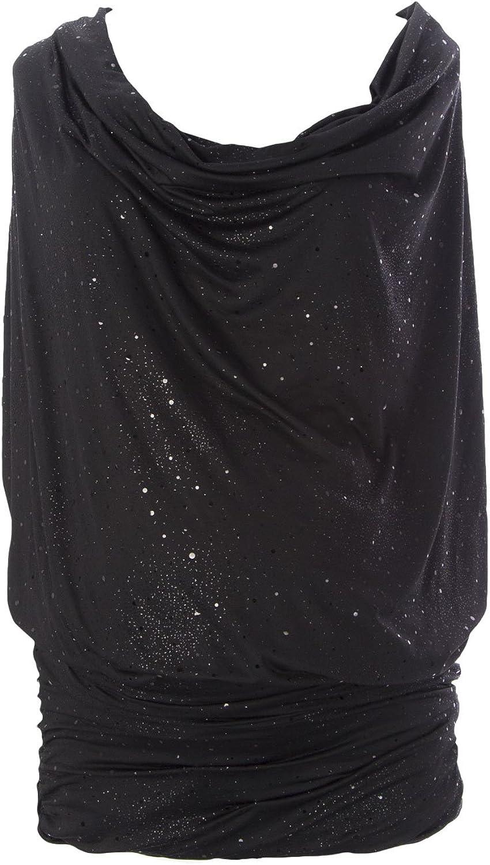 JULES & JIM Maternity Women's Sparkled Tunic Top, Medium, Black
