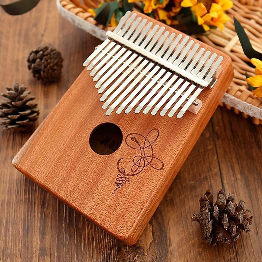 Virginia Beach Mall Amberbaby Brand new Finger Harp Thumb Piano 17 Hand Mahogany Keys T Carved