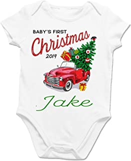 Baby's First Christmas 2019 Jake with Tree Red Convertible - Baby Clothes & Onesie (6-24 Months)