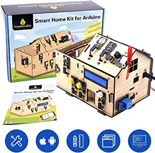 KEYESTUDIO IoT Smart Home Kit with R3 Board for Arduino STEM Set for Learning Internet of Things, Mechanical Building, Ele...