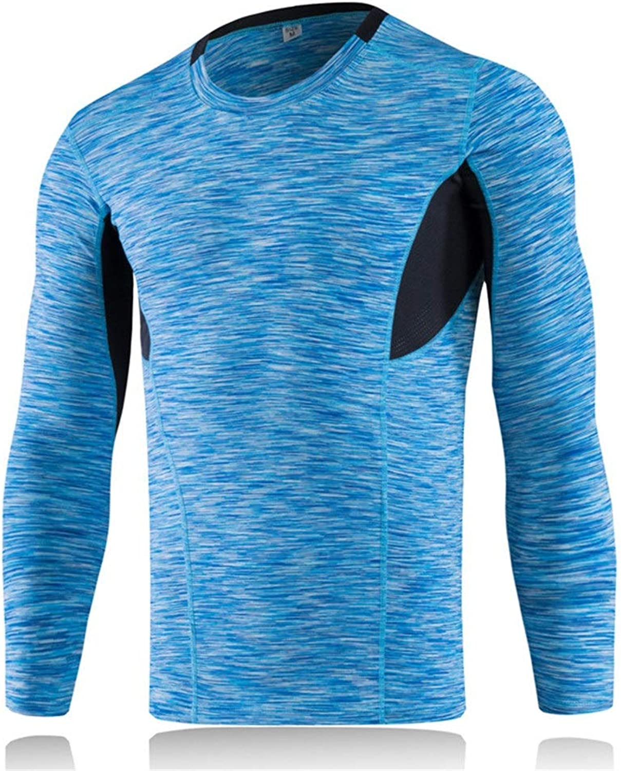 Men's Compression Base Layer Shirt Men's Compression Sportswear,Men's Thermal Compression Long Sleeve Tops,Sports Long Sleev,Men's Compression Sportswear (color   colorful bluee, Size   M)