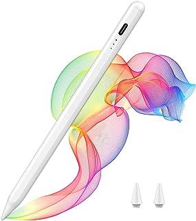 iPadタッチペン apple pencil スタイラスペン デジタルペン iPad 超高感度 極細ペン先 傾き感知/磁気吸着/誤作動防止機能/パームリジェクション機能対応 軽量 USB充電式 遅れなし 自動電源オフ ipad専用 タッチペン ...