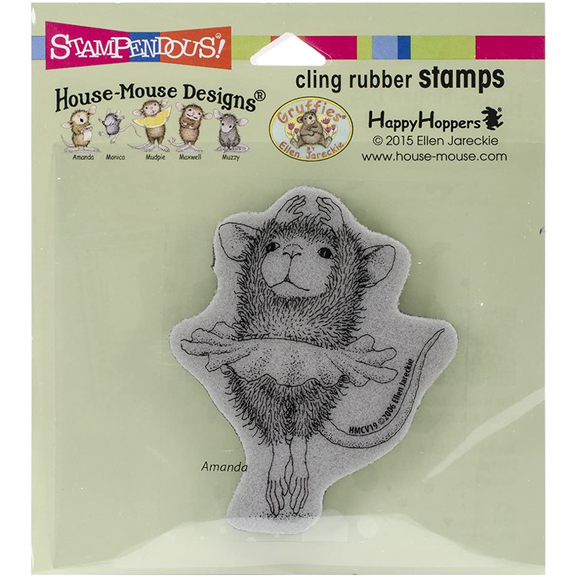 STAMPENDOUS CLING RUBBER STAMP HOUSE MOUSE BALLERINA BABY