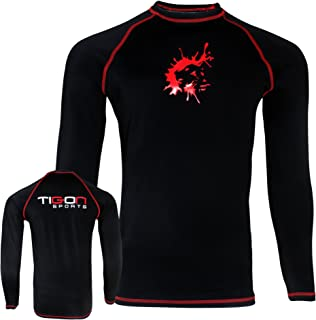 Tigon MMA Rash Guard Compression Base Layer Sleeve Mens Full sleeve Black Karate Martial Arts