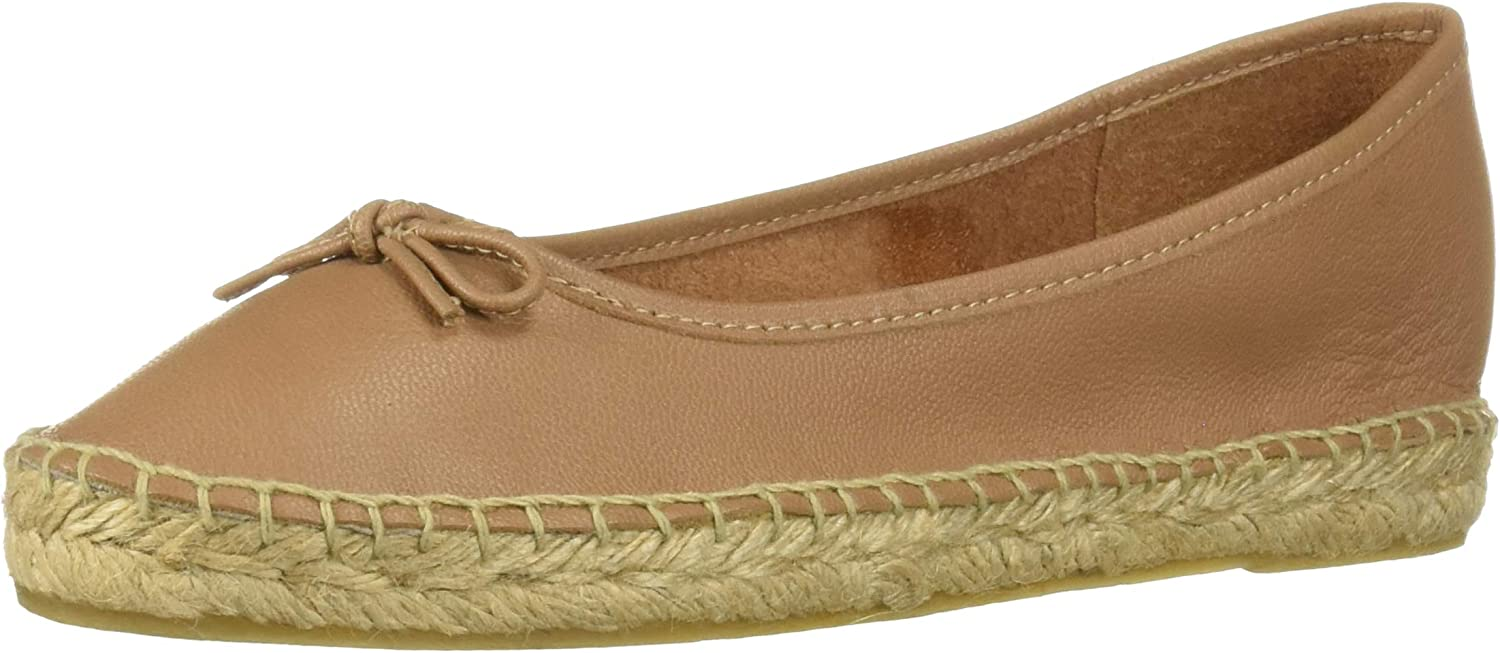 Bayton Womens Bella Nude Leather Ballerina Espadrille Moccasin