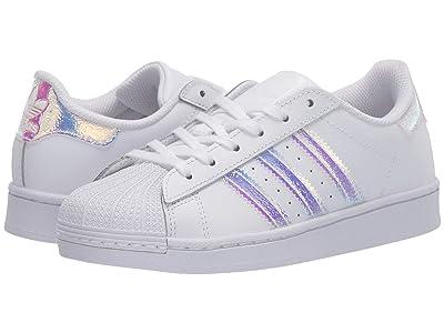 adidas Originals Kids Superstar (Little Kid) (White/White) Girls Shoes