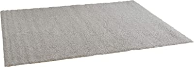 スミノエ(Suminoe) オーダーラグ グレー 幅225cm ×長さ85cm ソフトタッチシャギー 防炎 アレルブロック