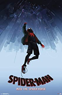 Trends International Marvel Comics Movie Man: Enter The Spider-Verse-Falling One Sheet Wall Poster, 22.375