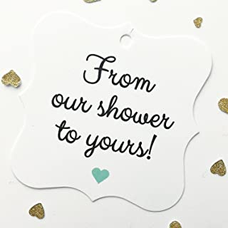 24 - Jack and Jill Shower or Baby Shower Tags, From Our Shower to Yours (FS-67-OMT)