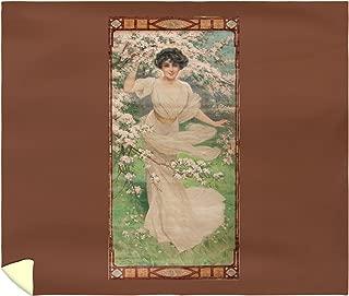 Blossoming Affection Vintage Poster (Artist: Rossi) France c. 1905 60444 (88x104 King Microfiber Duvet Cover)