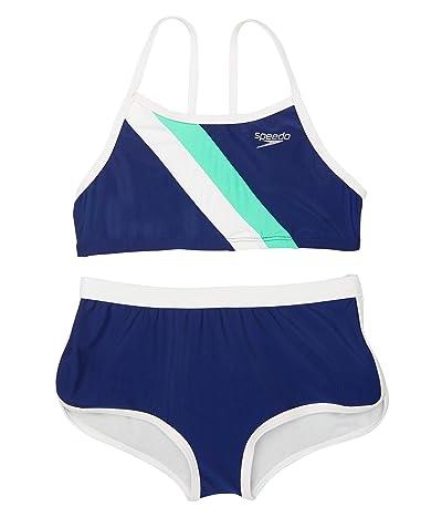Speedo Kids Diagonal Splice Bikini Set (Big Kids)