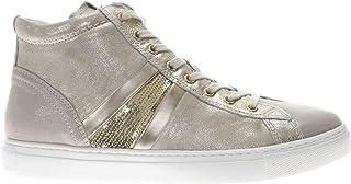 NeroGiardini - Sneaker Alta Laminata con Pailettes