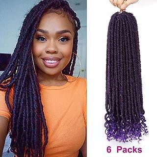 crochet faux locs purple