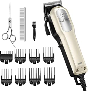 OMORC Dog Clippers with 12V High Power for Thick Coats,...