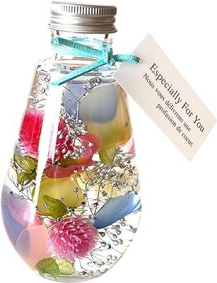 フローリストレマン ハーバリウム プリザーブドフラワー 花 誕生日プレゼント お見舞い お礼 ギフト (カラフル)