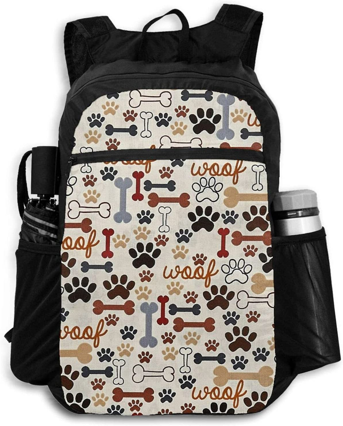 Zolama Dog Max 63% OFF Bones Paw Free shipping on posting reviews Backpacks for Day Women Packable Cute Men